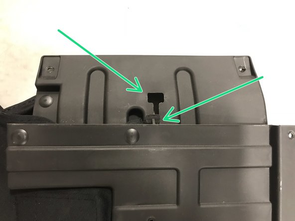 plastic tab and entry point.