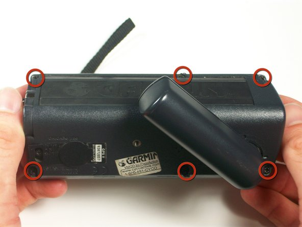 Image 2/3: With a #0 Philips screwdriver, remove six M2x0.4  black screws on the back of the unit.