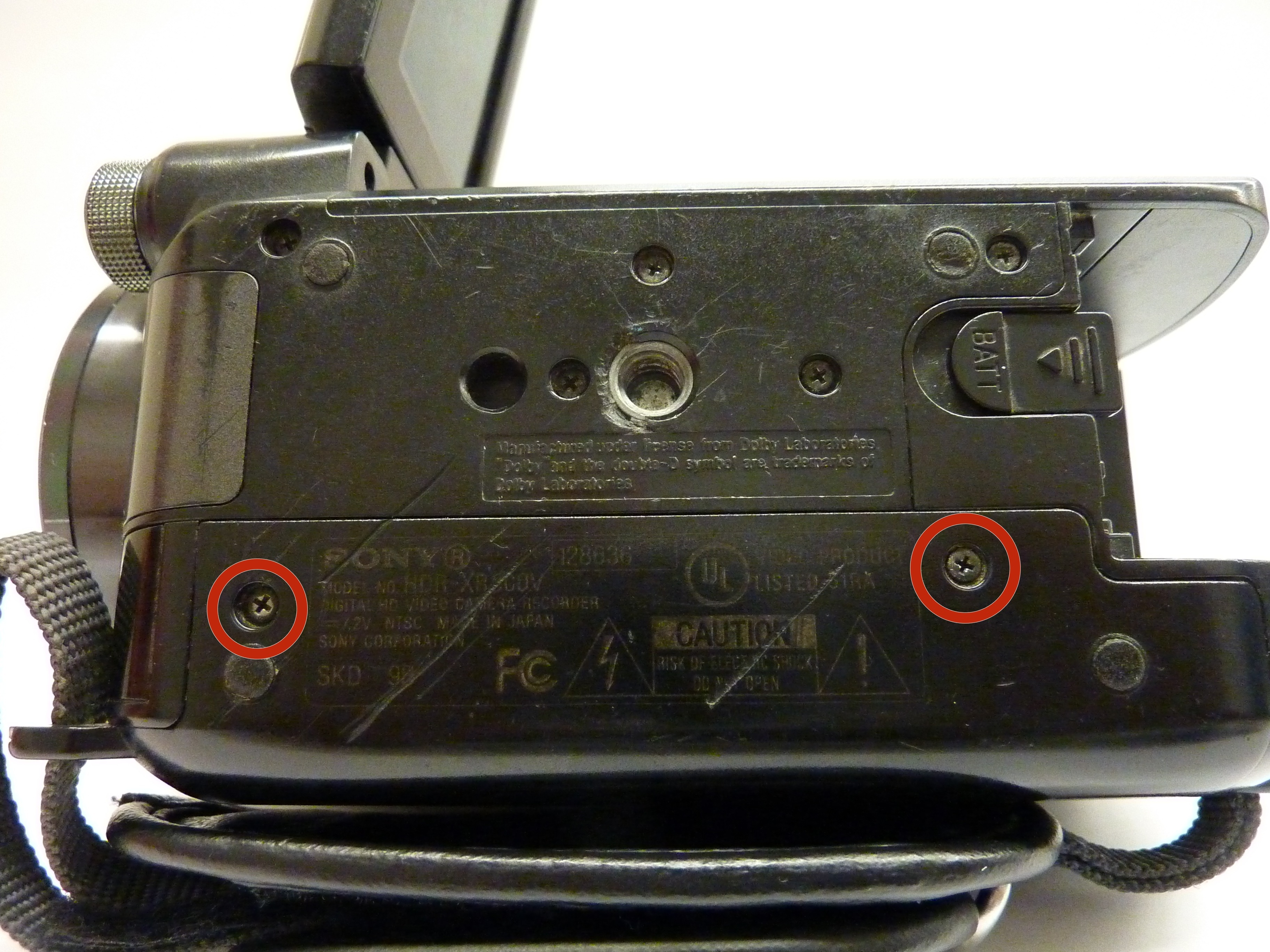 Sony Handycam Hdr Xr500v Repair Ifixit Pj810 Camcorder Hard Drive