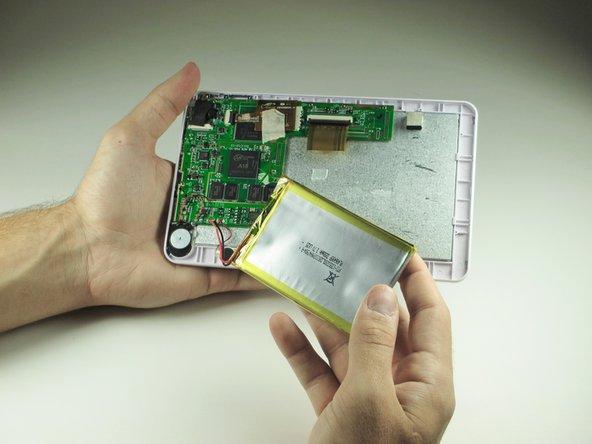 Image 2/2: Carefully set the battery aside.