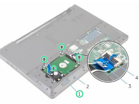 Replace the screws that secure the hard-drive assembly to the computer base.