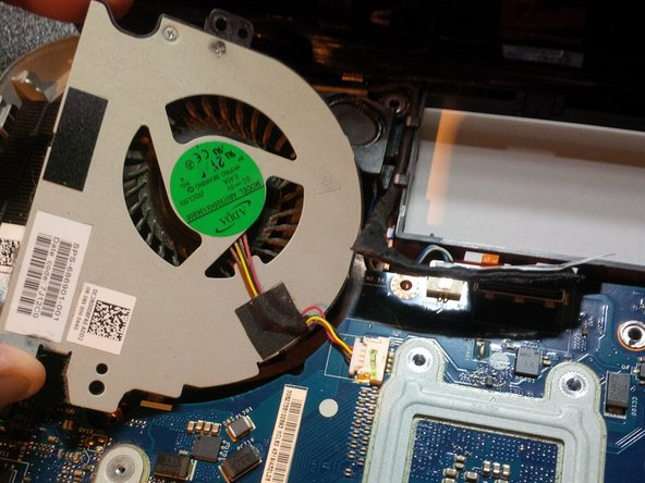 we can remove the fan for taking out the mainboard or to clean the fan, or replace the fan.