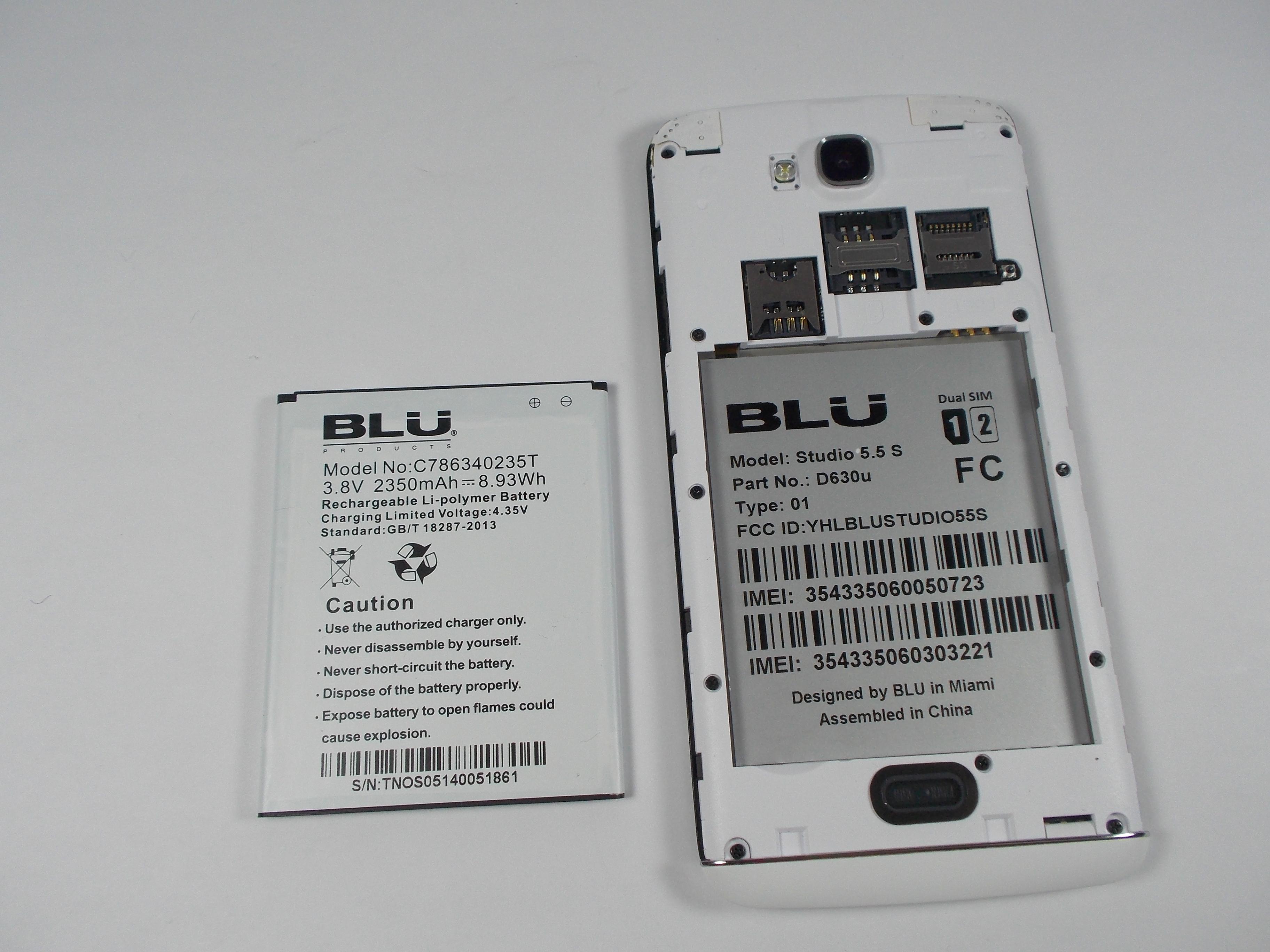 Blu Studio 5 5 S Battery Replacement