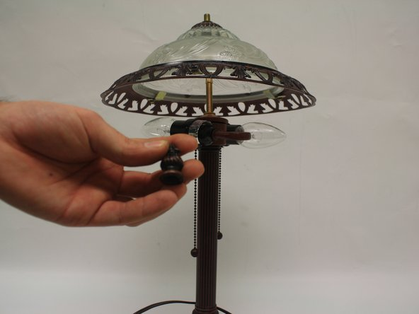 The canopy is the name for the dome-like structure that extends over the light fixtures.