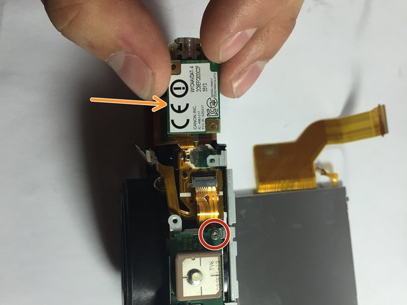 remove the wifi chip and unscrew the last screw