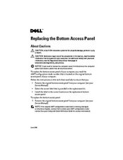Bottom Access Panel repair guide