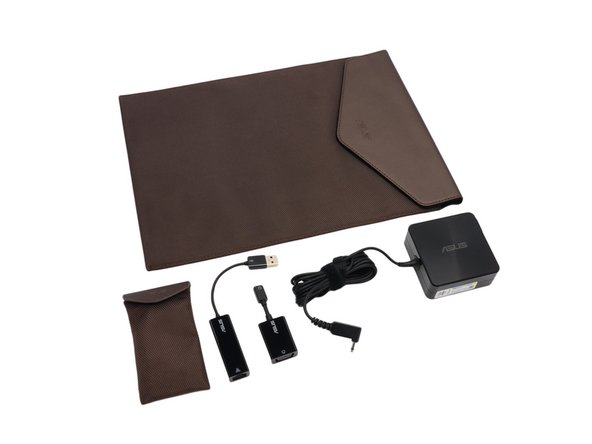 Image 1/1: In addition to a slick Ultrabook, Asus throws in a whole bag of goodies with the Zenbook: