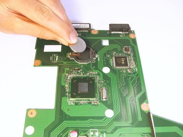 Lastly, lift and remove the CMOS battery from the motherboard.