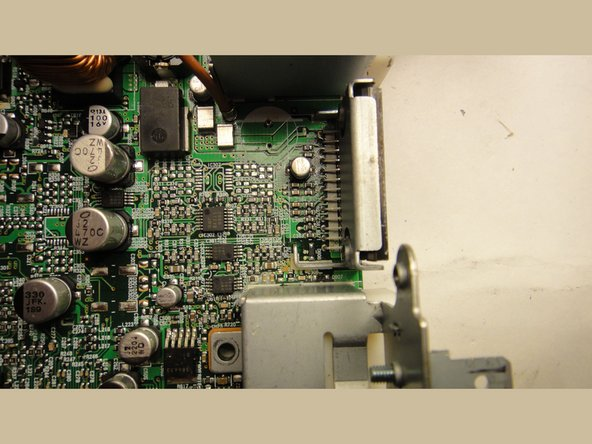 The main preamp before the power amp is in this section. Note the component locations which were left empty at the factory. These components can be assembled onto the PCA, and provide an additional 8dB of gain for the line out signals.