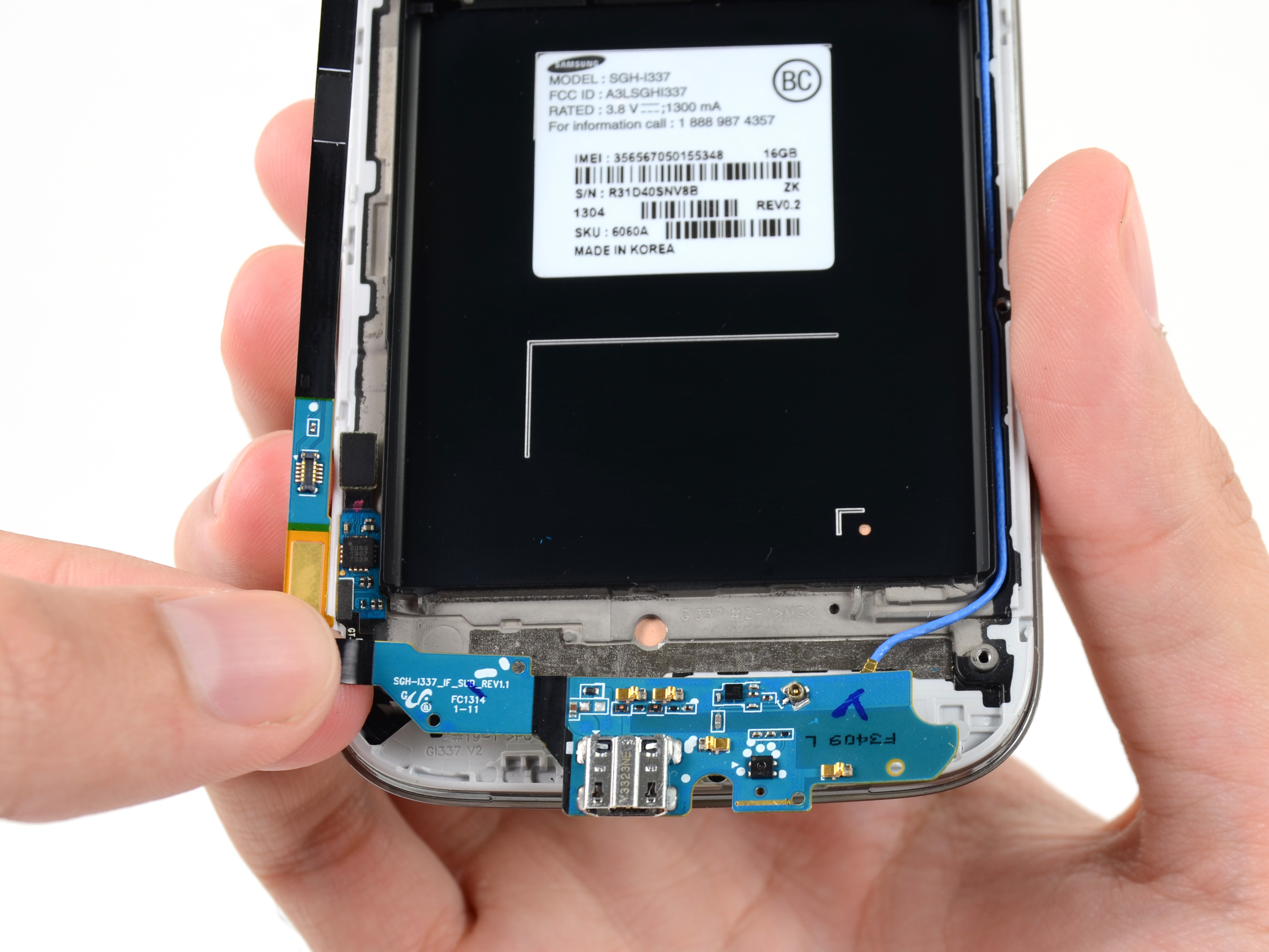 samsung galaxy s4 usb board replacement ifixit
