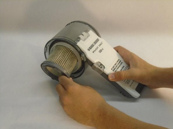 Once the nozzle, filter and dust bowl have been removed each part can be removed from the nozzle section of the device.