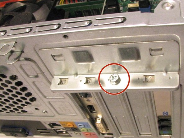 Remove the screw that secures the support bracket: