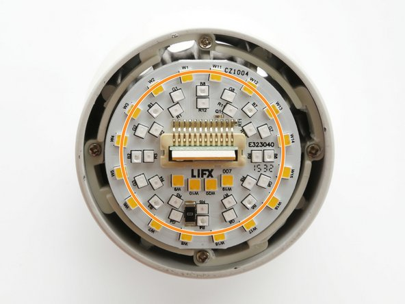 Image 2/3: On the LED PCB, you can see the white and colored LEDs. The PCB is a thermally-conductive aluminum material.