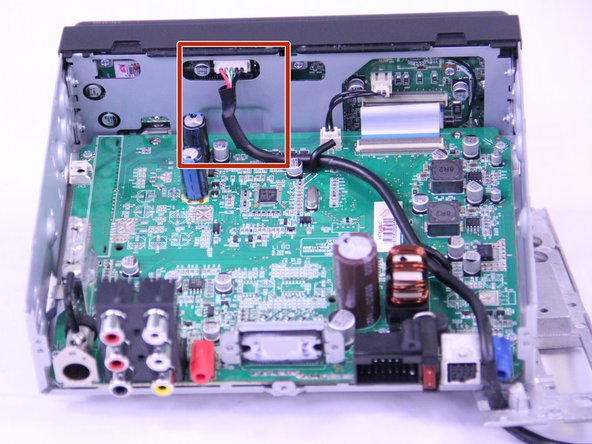 Disconnect the USB cable from the display board.