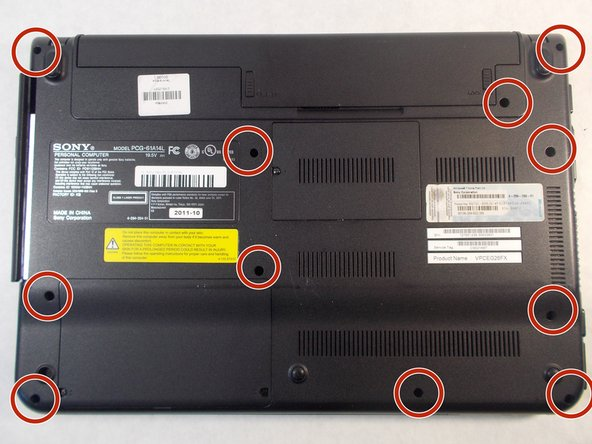 Sony Vaio PCG-61A14L Back Panel Replacement