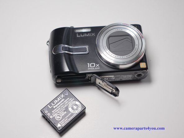 Remove the battery and memory card from the device.