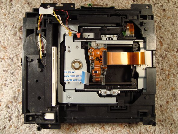 There's a look at the bottom side of the optical drive.