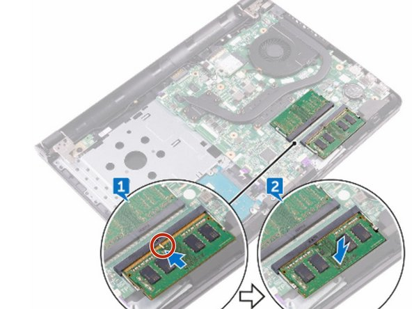 Align the notch on the memory module with the tab on the memory-module slot.