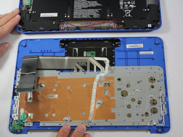 Remove the Keyboard/Top Cover from the device.