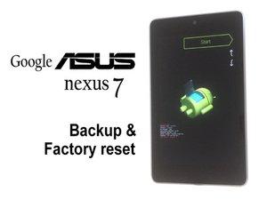 Asus Google Nexus 7 / 2012 - factory reset