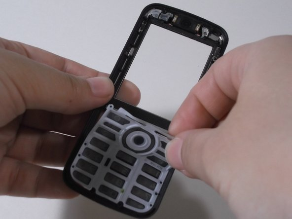 Remove keyboard by lifting it out with your fingertips.