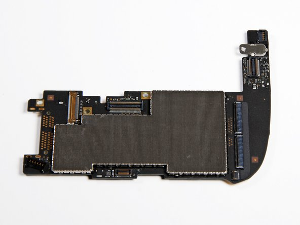 "Image 2/3: The logic board is about 4.5"" wide, spanning about 60% of the iPad's width."