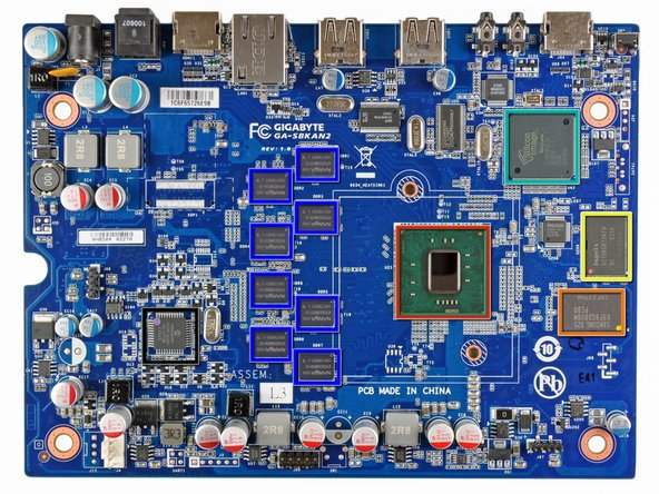 Image 1/2: Intel Atom [link|http://en.wikipedia.org/wiki/List_of_Intel_Atom_microprocessors#.22Sodaville.22_.2845_nm.29|CE4150] 1.2 GHz processor, with a 400 MHz GPU
