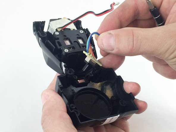 Remove the power switch assembly from the body by gently pulling straight out on the wires.