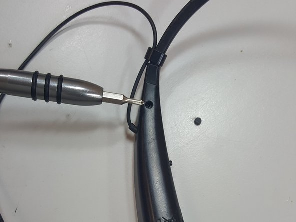 Using a Philips #00 screwdriver, remove the hidden screws from both sides.