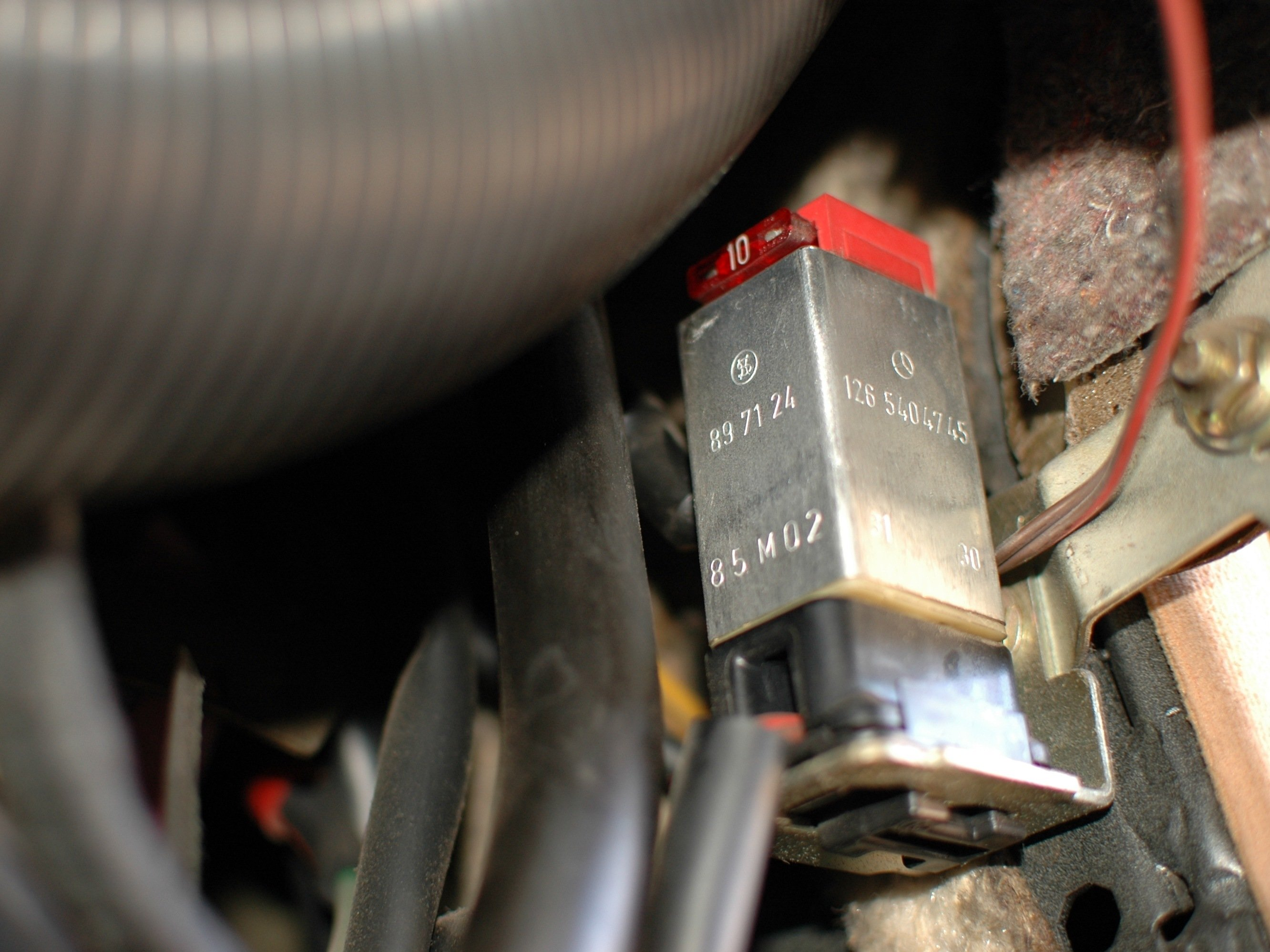 Mercedes W123 Over Voltage Protection Relay And Fuse