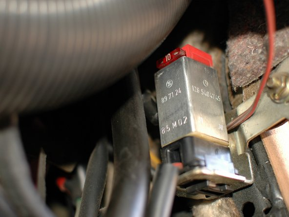 Mercedes W123 Over-voltage Protection Relay and Fuse Replacement