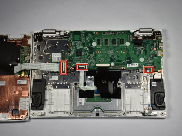 Orient the laptop so the motherboard side is further away from you in a landscape position.