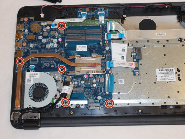 Unscrew the five screws securing the motherboards.
