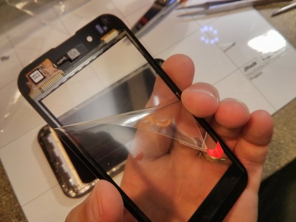 remove the inside protection on the new touch screen.