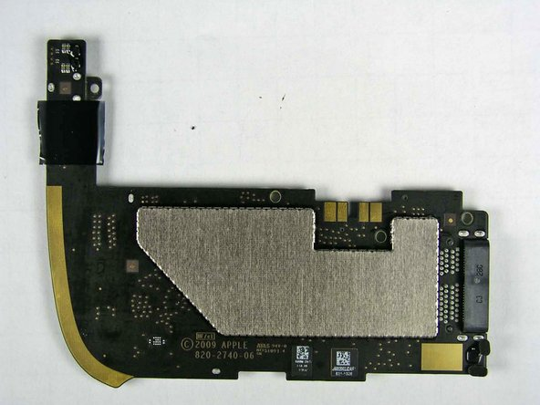 logic board on Apple's iPad