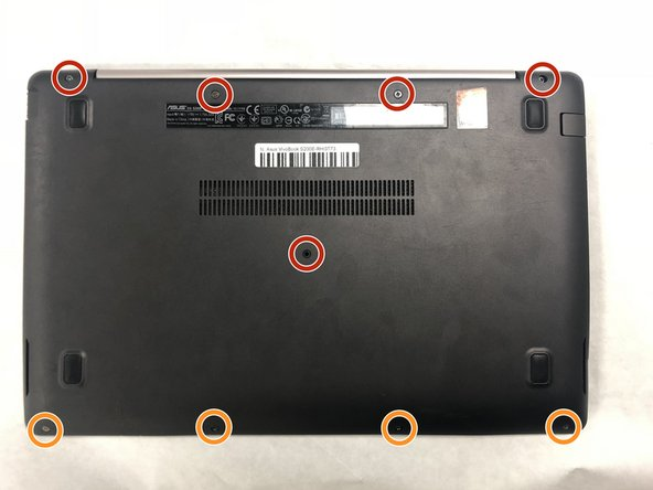 In order to remove the back lid, you must lay the laptop down with the lid closed and remove the screws with a Phillips #0 screwdriver.