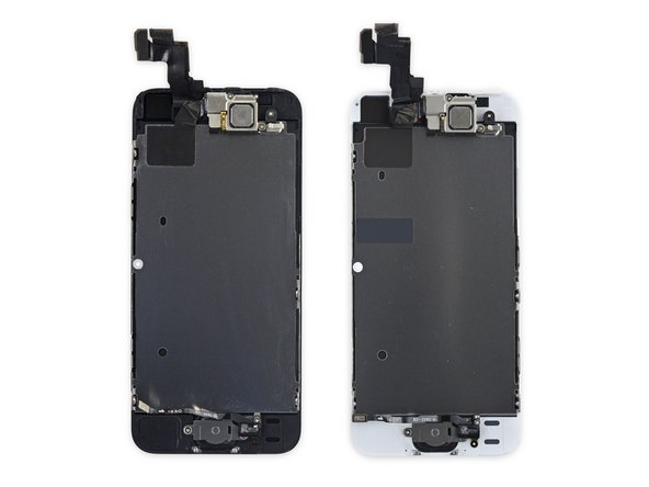 Image 2/2: The similarities are more than skin deep. After a little testing, we found the 5s display is plug-and-play in the SE—fitment, connectors, and functionality are the same. It fires right up. That means [https://www.ifixit.com/Store/iPhone/iPhone-5s-LCD-Screen-and-Digitizer-Full-Assembly/IF124-000-3|replacement parts|new_window=true] and [https://www.ifixit.com/Guide/iPhone+5s+Display+Assembly+Replacement/30962#s52980|guides|new_window=true] are already available!