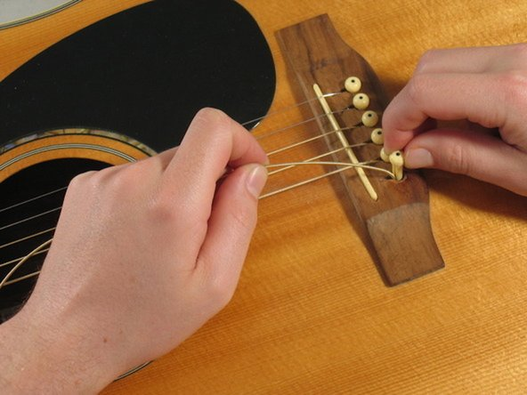 Guitar string self-repair