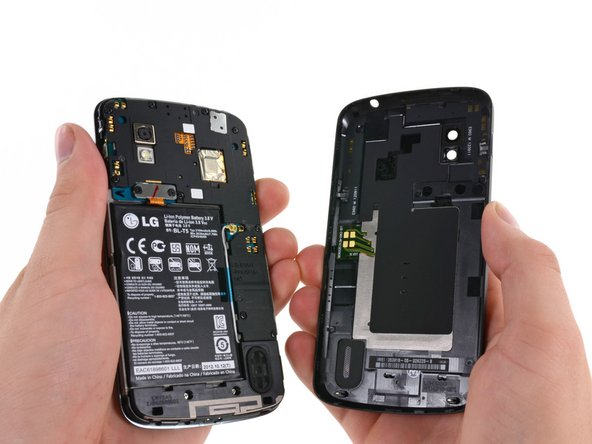 The opening process may take a few minutes. The plastic will make a light snapping noise as the back cover separates from the rest of the phone.
