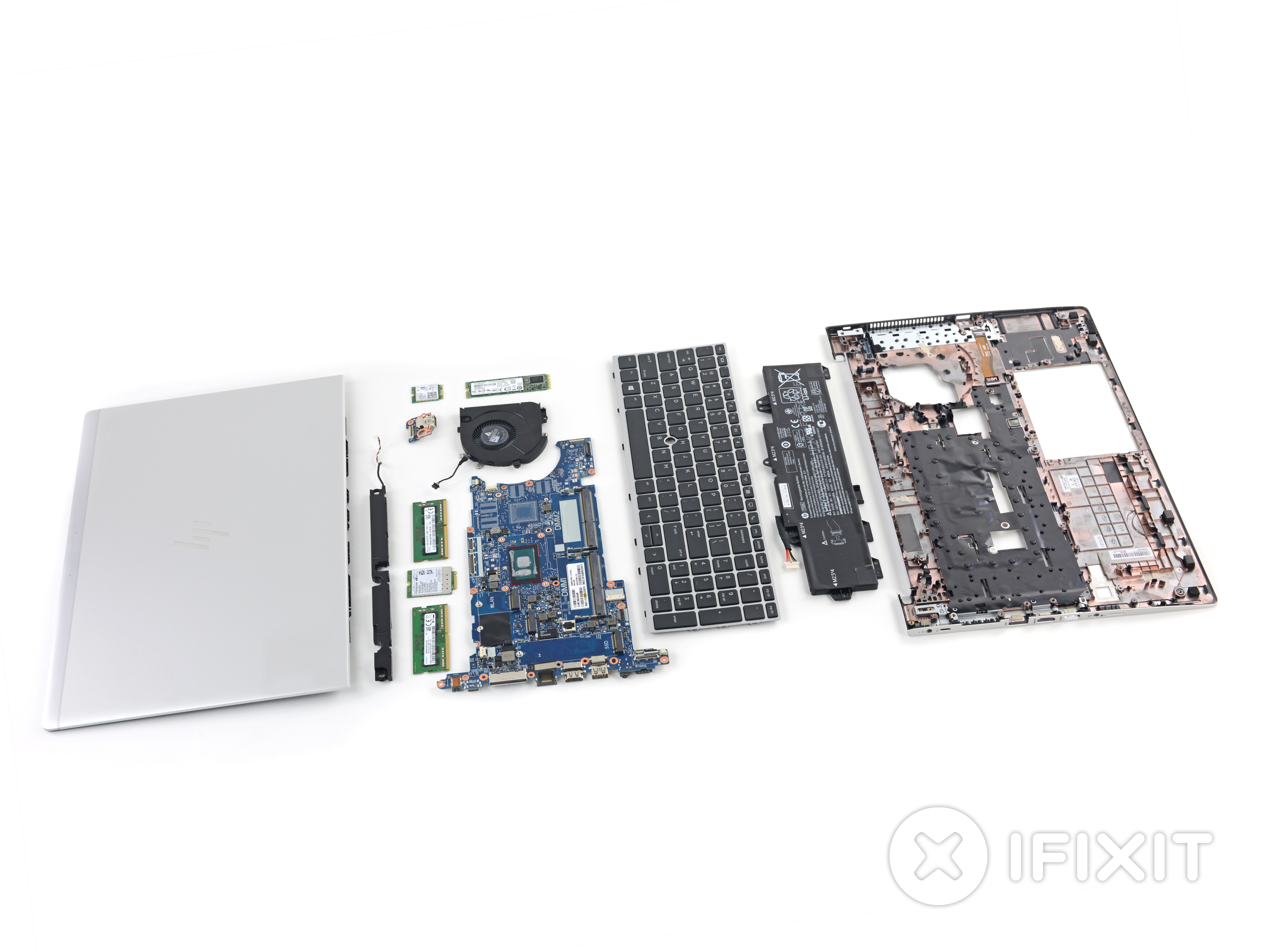 Layout of the EliteBook 800 G5 components.