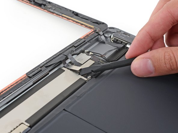 To avoid damaging your iPad, pry only on the connectors themselves, not on the socket on the logic board.