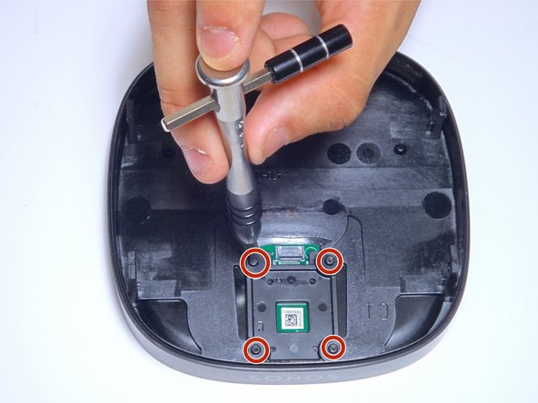 Using a screwdriver with a Torx T6 bit, remove the four highlighted 7mm screws.