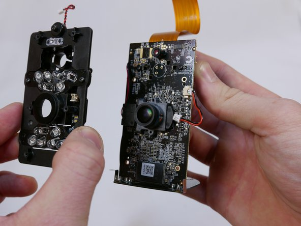 Lift the infrared LED board directly upwards and pull away from the motherboard.