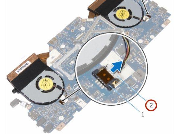 Dell Alienware 13 R2 Reemplazo del conjunto de disipador de calor