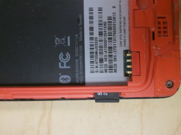 Depress MicroSD to eject it from the side of the case.