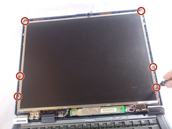 Remove the six screws along the outside of the screen using the PH 0 screwdriver bit.