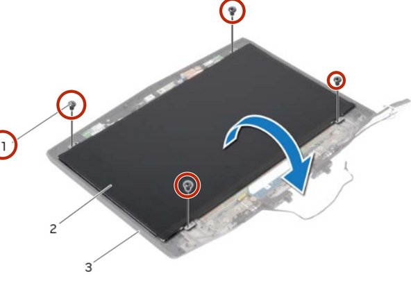 Replace the screws that secure the display panel to the display back-cover.