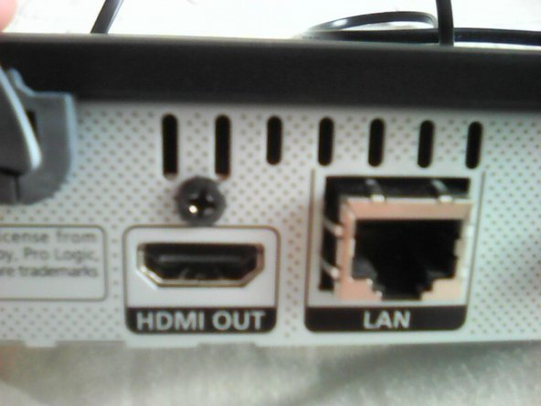 The positions of the screws: One in the center (Above the coffee), one above the HDMI port, and that's it. Please tell me if there's a third, I can't remember.