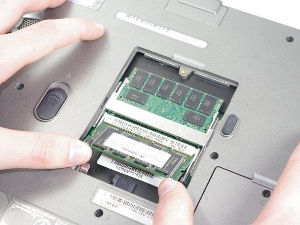 Image 3/3: Push RAM down, so it lays flat.