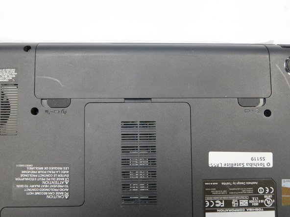 Toshiba Satellite L855-S5119 Battery Removal